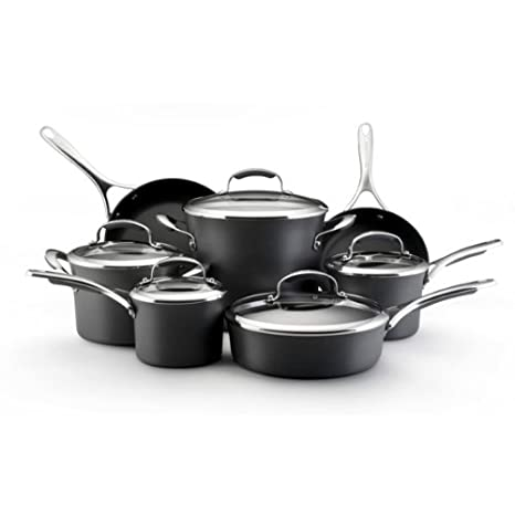KitchenAid Gourmet Hard Anodized Nonstick Set 82545 Dark Grey