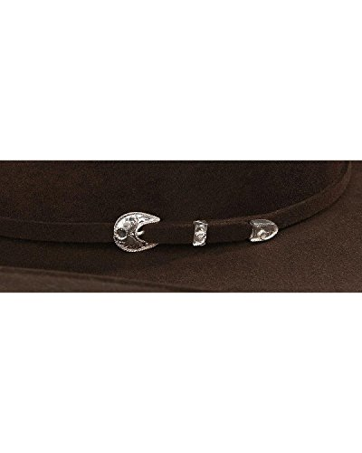 Stetson Men's 4X Corral Buffalo Felt Cowboy Hat Chocolate 7 5/8 by Stetson (Image #1)