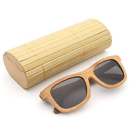 AZB Bois Soleil pour Bambou Voyageurs Les Lunettes en Boîte Parfait et Noir Flottants Bambou de Femme Vintage pour Lunettes de Homme avec Soleil Polarisées en en rZBHv1rEcq