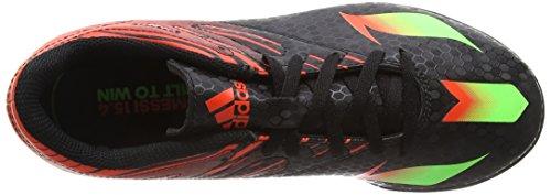 adidas Unisex-Kinder Messi 15.4 TF Fußballschuhe Schwarz (Core Black/Solar Green/Solar Red)