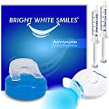 Bright White Smiles Teeth Whitening Kit   LED Light Activated Teeth Whitener   With 2x 5ml 35% Carbamide Peroxide Gel Syringes   Comfort Fit Mouth Tray & Case   For Home Use   Professional Results