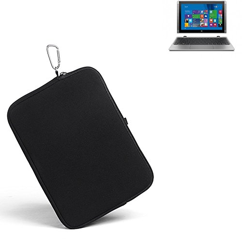 K-S-Trade for HP Pavilion x2 Neoprene sleeve Protective case Holster Belt bag Travel pouch Slim clip, small, light, compact for HP Pavilion x2 black easy to (Compact Neoprene Pouch)