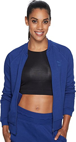 PUMA Women's Archive Logo T7 Track Jacket, Blue Depths, - Blue Jacket Track Womens