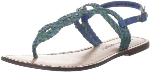 Chinese Thong Sandals - Chinese Laundry Women's Native Sandal, Blue/Green, 8.5 M US