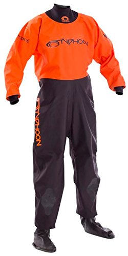 Typhoon Kids Youth Junior Rookie Drysuit Dry Suit Neoprene Wetsuit Seals Black Orange. Breathable - Unisex