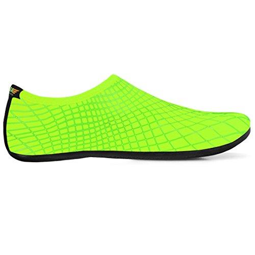 Justonestyle Barfot Vann Fleksibel Hud Sko Aqua Sokker Med Yttersåle For Beach Svømme Surfe Sommer Fritidssport Grønn