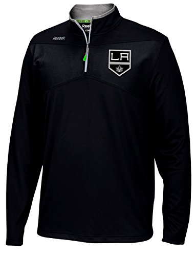 Los Angeles Kings Reebok NHL 2016 Center Ice Speedwick 1/4 Zip Sweatshirt (X-Large) (Los Angeles Kings Reebok)