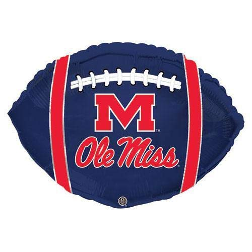 CTI Balloons Foil Balloon 315110HV University Mississippi Ole Miss Rebels Football, 21