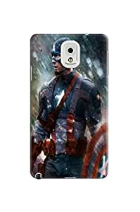 Spiffy tough armor tpu phone case/cover/shell with textures for Samsung Galaxy note3(Marvel Avengers Captain America) by Shari Flanders