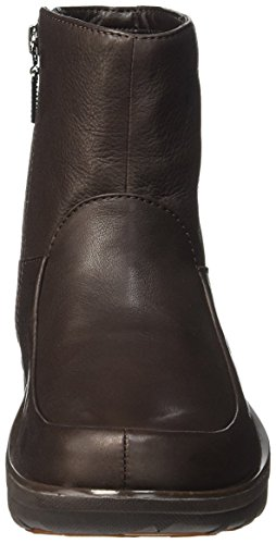 FitFlop Damen Loaff Tm Shorty Zip Boot Stiefelette, Braun