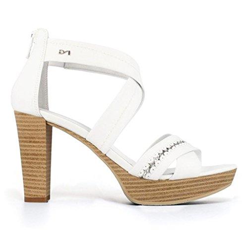 Giardini Mujer De Plataforma Zapatos Nero Bianco 4C0dq0