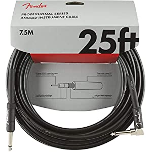 Fender Professional Series Cable 7.5 m Black Angled