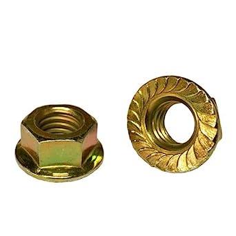 5//16-18 Hex Serrated Flange Nuts Grade 8 Zinc Yellow 200