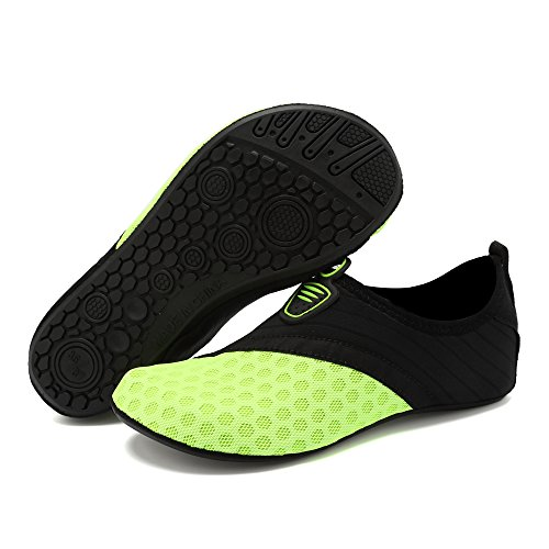 DIERDI Water Shoes Barefoot Breathable Quick-Dry Slip On Aqua Yoga Beach Surf Swim Socks Men Women Quick Dry Water Sport Shoes Green1 DNNtTg