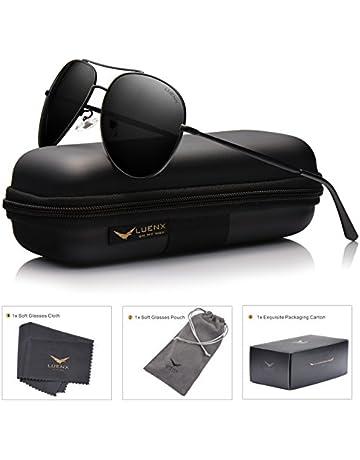 SUNMEET Gafas de sol Hombre Polarizadas Clásico Retro Gafas de sol para  Hombre UV400 Protection S1001 09336b08ce