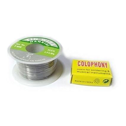 Estaño para soldar bobina diámetro 1 mm. con pasta disossidante Soldador