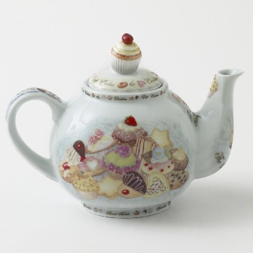 Cardew Cupcakes and Cookies 2-Cup Teapot, 18-Ounce (Hall Porcelain Teapot)