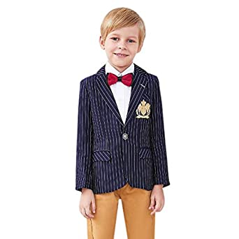151d7de4f527 Baby Shop Boys Cotton Vertical Stripes Blazer in Blue Color for Age ...