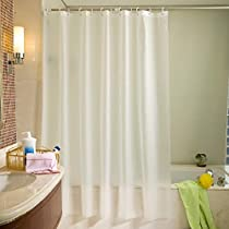 Htovila 72 * 72 inches Polyester Waterproof Shower Curtain Anti-Corrosion Anti-Bacterial Privacy Protection Bathroom Curtain with 12pcs Plastic Hooks