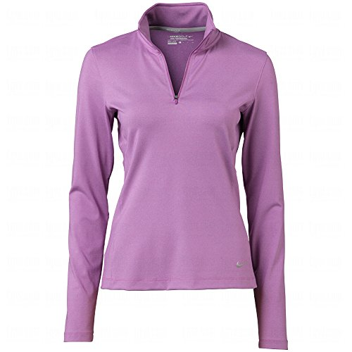 Nike Golf Women's 1/2 Zip Key Coverup Noble Violet Heather/Metallic Silver SM