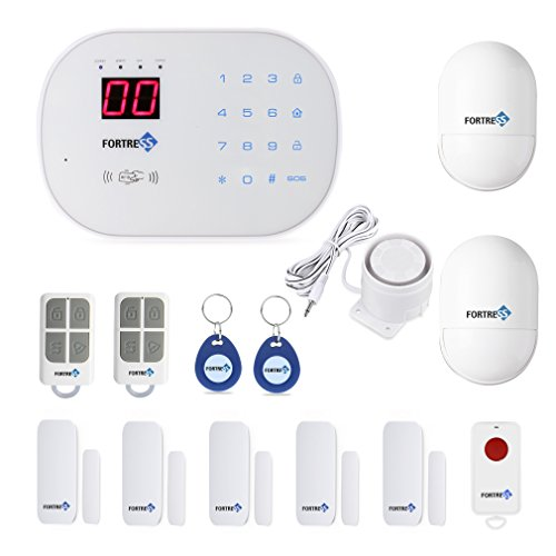 Fortress Security Store (TM) S02-A Wireless Home and Business Security Alarm System DIY Kit with Auto Dial, Motion Detectors, Panic Button and More for Complete Security Fortress Security Store
