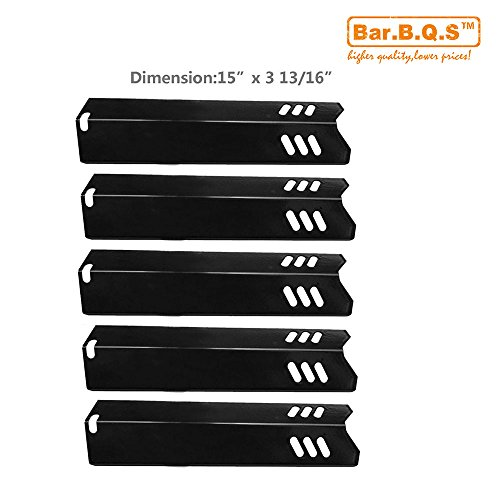 91591(5-pack) Porcelain Steel Heat Plate Replacement for Select Uniflame Gas Grill Models
