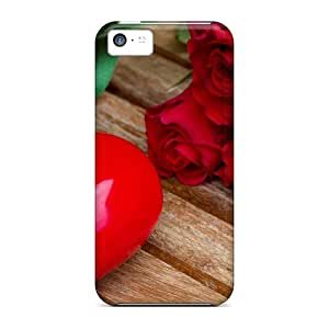 New RUGPIRz4218bFUAb Roses And Heart Tpu Cover Case For Iphone 5c