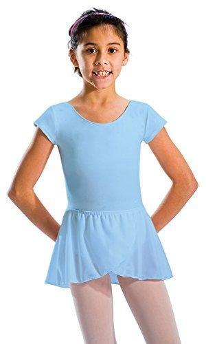 Motionwear Wrap (Motionwear Girl's Pull-On Wrap Waistband Skirt S PINK)