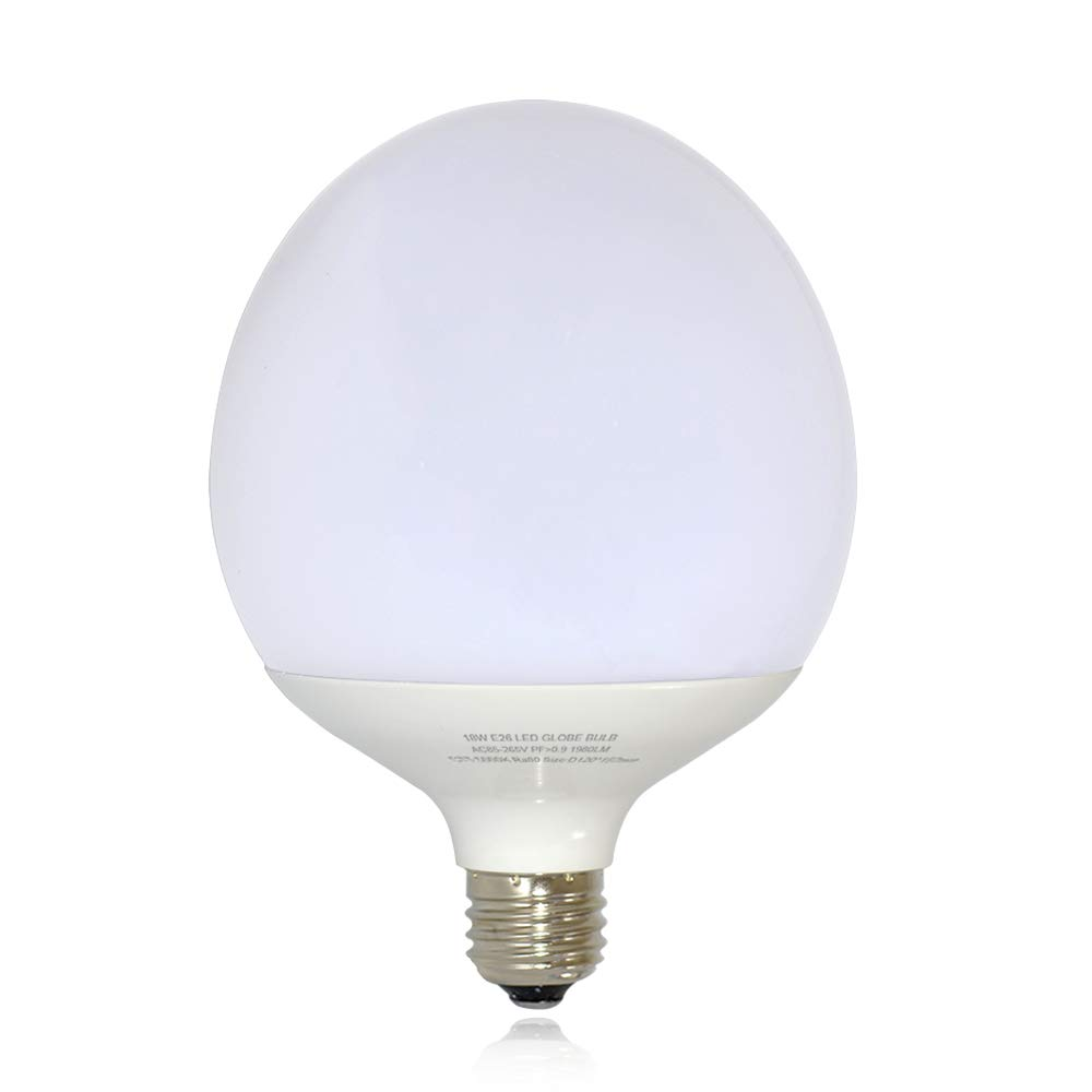 15W Large LED Bulbs 36W CFL Replacement E26 Base 1500 Lumens Non-Dimmable 5000k More Suitable for use in The Living Room Bedroom Lighting(Milky Cover)