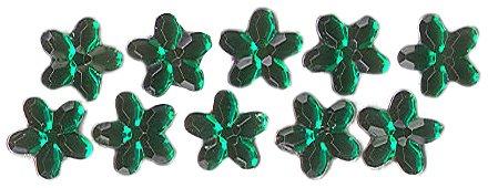 Dress It Up 3835 Petal Embellishments, 16mm, Emerald