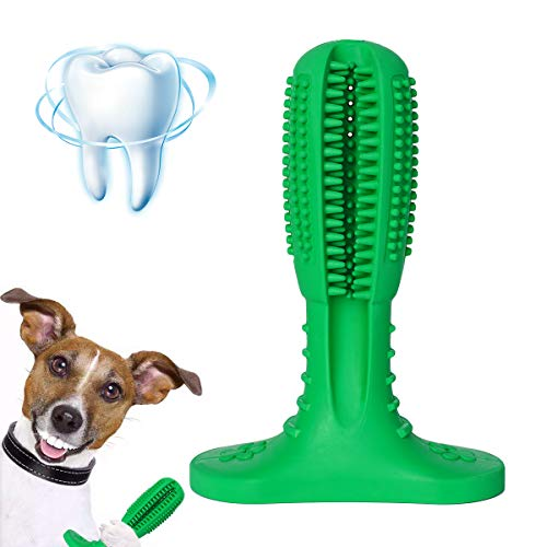 Brush Care Dental - Ranphykx Dog Toothbrush Stick Dental Care Brushing Stick Effective Toothbrush for Dogs Natural Rubber Bite Resistant Toys for Dogs Pets Oral Care