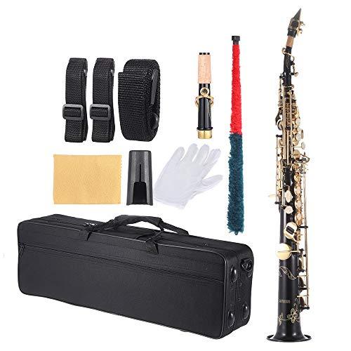 ammoon B Flat Soprano Saxophone Brass Straight Sax Bb B