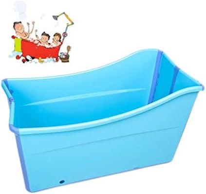 折りたたみバスタブ GYF 子供用ポータブル折りたたみ式浴槽プール大人用/高齢者用の大型の自立型コーナーバスタブバスバケツスパニング、カバー付きの長い断熱時間 2色プール子供用浴槽 (Color : Blue)