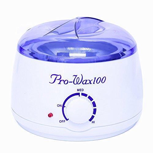 Ctrinews Electric Mini Hair Removal Epilator Wax Warmer Waxing Kit SPA or Self-waxing Hand in Home Portable Machine Melting Pot Heater For Girls & Women & Men (White-purple)