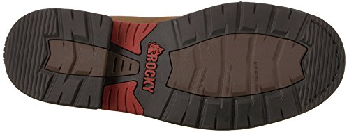 Rocky Mens RKW0201 Western Boot Brown and Burnt Orange mNMx7rES