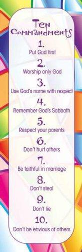 Bkmrk-Kids 10 Commandments (Package of 25)
