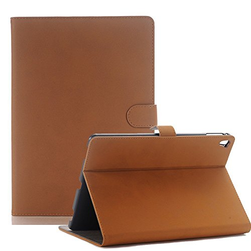 Price comparison product image iPad 9.7 Case 2017 / 2018, Businda Slim Smart Stand Multi Function Screen Protective with Built-in Magnet Case Cover for 2017 / 2018 iPad 9.7 inch Tablet(Light Brown)