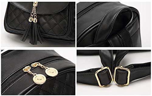 à Noir Noir pour Dos Main Sac porté au JUND Noir Femme 8q574w