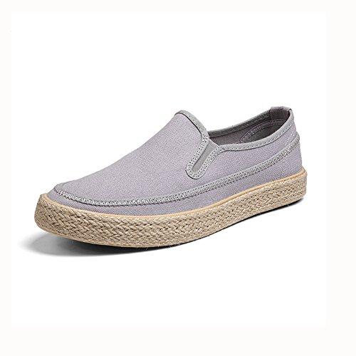 YIXINY Chaussures de sport Chaussures Pour Hommes Toile Paresseux Chaussures De Conduite Jeunesse Étudiant Printemps / Automne ( Couleur : Gris , taille : EU40/UK7/CN41 ) Gris