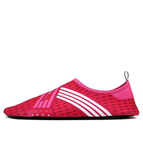 fereshte Unisex Men Women Kids Barefoot Water Skin Shoes Aqua Socks For Beach Swim Surf Yoga Exercise 8Rose Red B8d9z98b