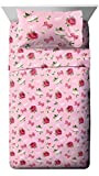 Jay Franco Nickelodeon JoJo Siwa Roses & Bows Full Sheet Set - Super Soft and Cozy Kid's Bedding - Fade Resistant Polyester Microfiber Sheets (Official Nickelodeon Product)