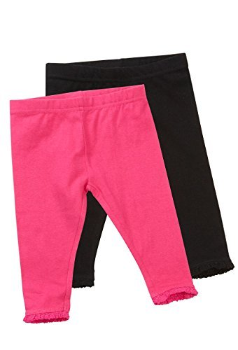 babies-girls-2-pack-of-leggings-with-lace-trim-ankles-0-to-6-years-0-3-months-black-pink