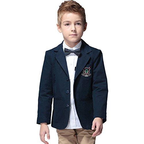 Leo&Lily Boys' Kids 100% Cotton Twill Blazers Jackets Coats With Lining 5
