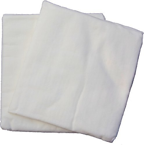 2er-Pack Moltontücher weiß 80x80 cm flauschig zart Windelkiste