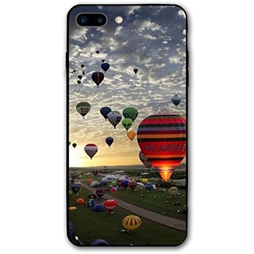 - Xianjing iPhone 7 Plus Case/iPhone 8 Plus Case Hot Air Balloon Fly Anti-Scratch PC Rubber Cover Lightweight Slim Printed Protective Case