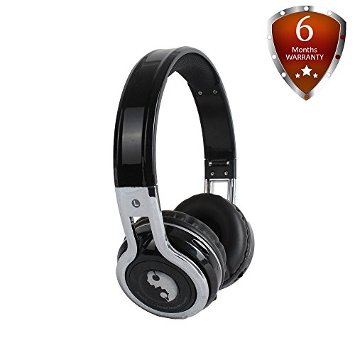 KB-2600 Over The Ear Bluetooth Headphones Wireless Headset with Volume Limiter Built-in Microphone Micro SD Card [Support Up To 128 GB] FM Stereo Radio By Acid Eye