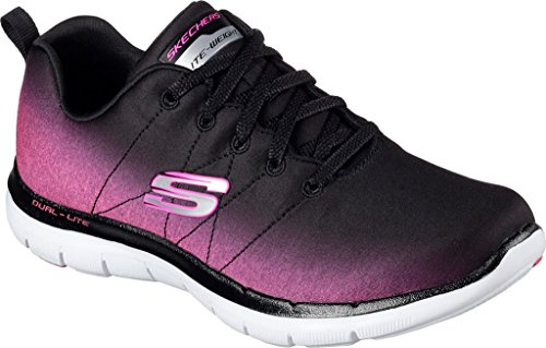 High Flex 0 2 Zapatillas Appeal Mujer Skechers Hot Pink Energy Black IZwa4aq