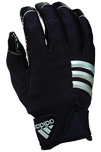 adidas NastyFAST Adult Football Lineman/Linebacker Gloves, Black/Black, XX-Large