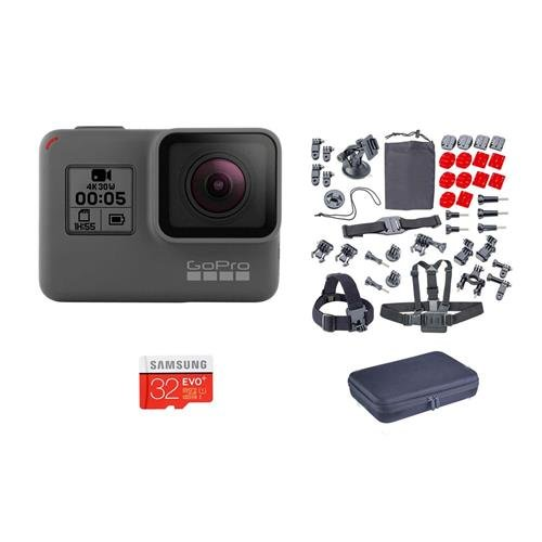 GoPro HERO5 Black - Bundle with Froggi Extreme Sport Kit, and 32GB Memory Card by GoPro