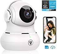 Indoor Camera, Littlelf 1080P Wireless WiFi Home Security IP Camera for Pet/Baby Monitor with Motion Detection